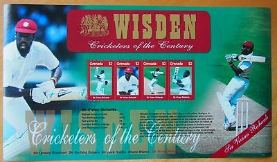 Wisden Cricketers Of The Century Mint Stamp Sheet Postal Tribute-Vivian Richards