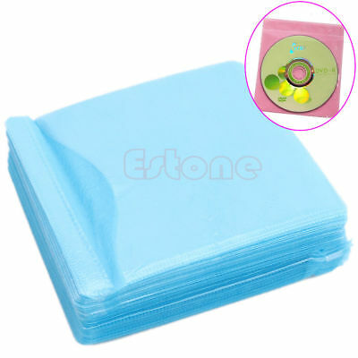 100pcs CD DVD Disc Double Side Cover Storage Case Bag Sleeve Holder Pack Set Hot