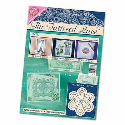 The Tattered Lace Craft Magazine Issue 11 + Free 5 Nesting Flowers Die