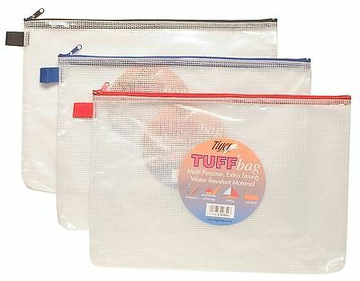A4+ Foolscap Tuff Bag Heavy Duty Strong Waterproof Storage Zip Wallet Case