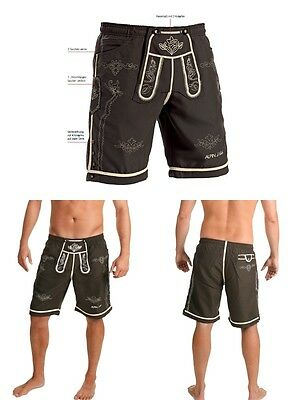herren trachten lederhose shorts kurz hellbraun mit tr ger. Black Bedroom Furniture Sets. Home Design Ideas