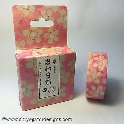 Washi Tape Miss Time Boxed Sakura Pink 15Mm Wide X 10Mtr Roll Scrap Craft Wrap