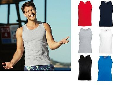 PACK OF 5 FRUIT OF THE LOOM VEST PLAIN ATHLETIC TANK TOP GYM TRAINING SUMMER