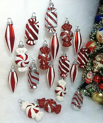 18 Peppermint Candy Christmas Ornaments For Table Top Tree Or Crafts