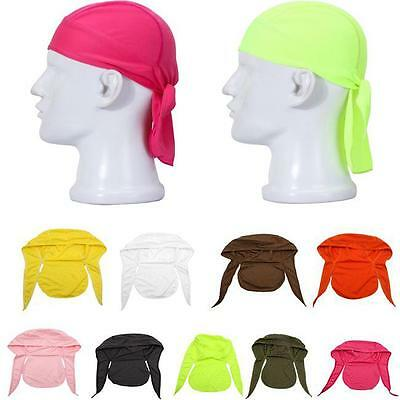Unique Fitted Solid Tied Back Bandana Head Scarf Motorcycle Cap Men Headwrap CB
