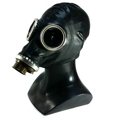 USSR Military  Gas Mask GP-5 black rubber. Only mask size - Medium. Cyber punk