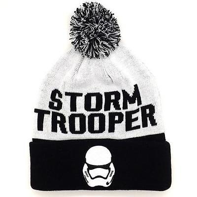 Star Wars - Stormtrooper Cuffed Bobble Hat - New & Official Lucasfilm With Tag