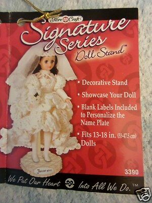 """TWO Adjustable Doll Stands for 13""""-18"""" Dolls ~ Fibre Craft Signature Series"""