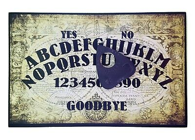 A4 Wooden Olde Worlde Ouija Board & Planchette Vintage Old Spritiual, Ghost Hunt