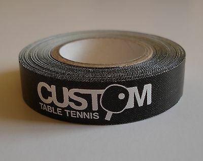 Custom Table Tennis Bat Edge Tape 5m x 12mm Wide Roll for 10 Bats New