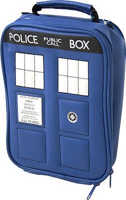 Adult Blue TV Show Doctor Who Police TARDIS Navy Insulated Lunchbox Cooler Bag