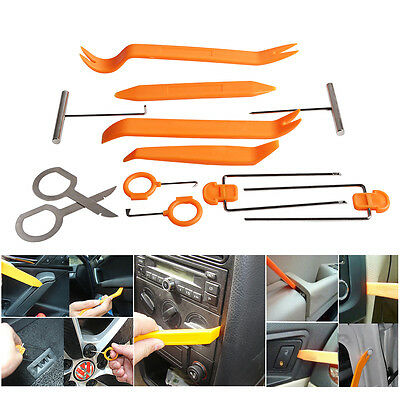 12× Universal Car Dash Panel Removal Open Pry Tools Door Radio Moulding Trim Kit