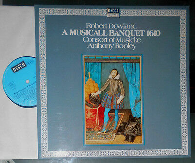 Robert Dowland A Musicall Banquet 1610 Consort Of Musicke Anthony Rooley Lp