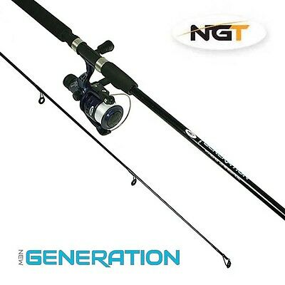 NEW NGT Generation Combo 7ft 2 Piece Rod & Reel Fishing Set Ideal Travel /Kayak
