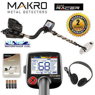 "Makro Gold Racer Metal Detector Standard Package w/ 5.5"" x 10"" Waterproof Coil"
