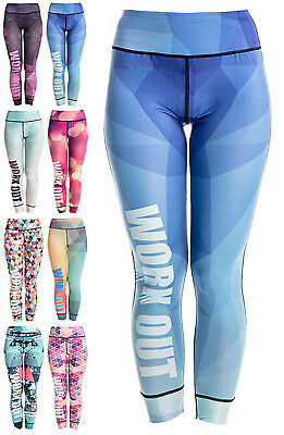 Women's WORKOUT Yoga Leggings Pilates Pants Gym Fitness Running Compression