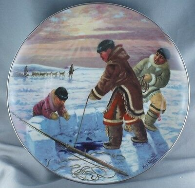 Nori Peter The Hunter's Reward People of the Midnight Sun Collector Plate