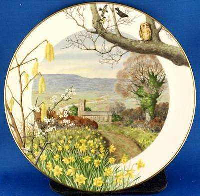 Peter Barrett Royal Worcester A Country Church In March Collector Plate