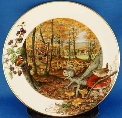 Peter Barrett Royal Worcester The Colours of Autumn In October Collector Plate