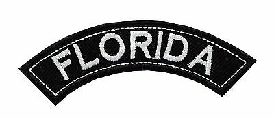 FLORIDA State Mini Top Rocker Biker Embroidery Patch