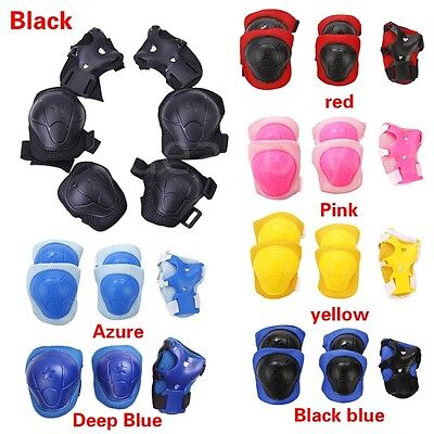 6x Set Sports Roller Blading Wrist Elbow Knee Pad Blades Guard Protector <170cm