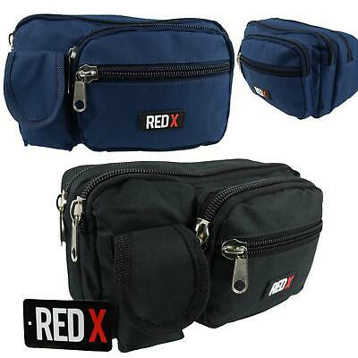 NEW Canvas XL LARGE Practical BUMBAG by RED X Travel Utility FannyPack Waist