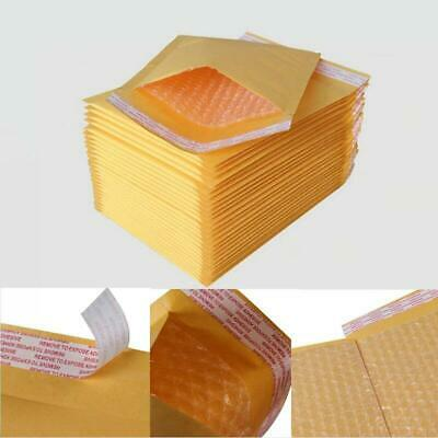 10/50/100Pcs Kraft Bubble Mailers Padded Envelopes Bags Self Seal Shipping Bags