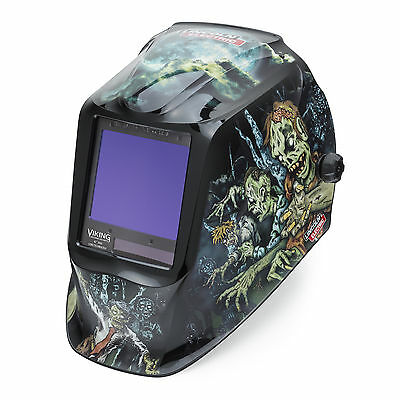 Lincoln Viking 3350 Zombie Welding Helmet K4158-3 with FREE $25 BONUS ITEMS