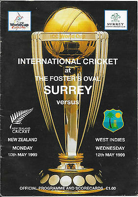 1999 - Surrey v New Zealand / West Indies, World Cup Warm-Up Programme.
