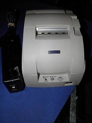 Epson Model TM-U220D Receipt Printer M188D  whte parallel with power cable