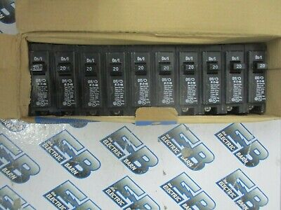 (10) Cutler Hammer BR120, 20 Amp 1 POLE CIRCUIT BREAKER- NEW