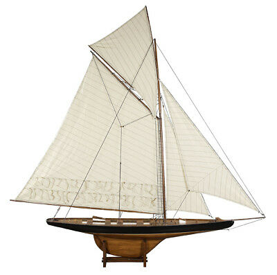 "XL Columbia America's Cup 68"" Wooden Model Decorative Sailboat New"