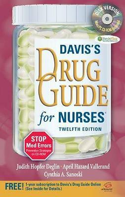 Davis's Drug Guide for Nurses Twelfth Edition CD-ROM Sanoski 2010