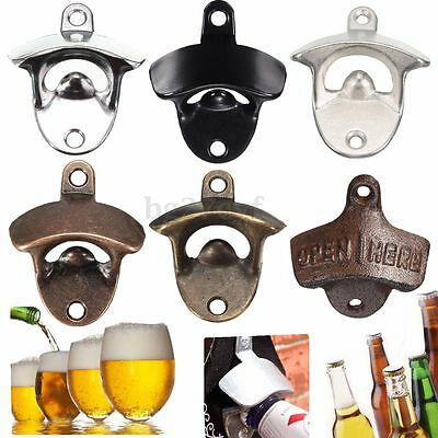 Wall Mounted Bar Wine Beer Soda Glass Cap Bottle Top Opener Kitchen Open Tool