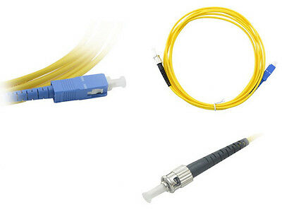 SC to ST Singlemode Simplex 9/125 Fiber Patch Cable, 10 Meters - Lifetime Wty