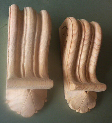 Pair of Reeded Corbels (#739) Discounted Stock (Seconds)