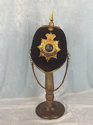 Victorian 1878 Pattern Lincolnshire Reg Officers Home Service Blue Cloth Helmet