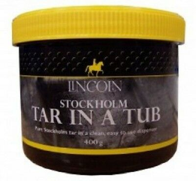 LINCOLN STOCKHOLM TAR IN A TUB (400G) horse pony natural antibacterial  4119