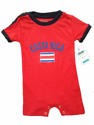 Costa Rica World Cup Baby One Piece Soccer Jersey Tshirt Flag Dressy Holiday
