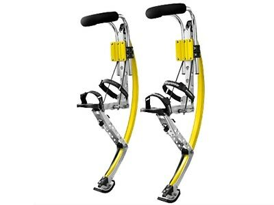 Men Kangaroo Bouncing Shoes Jumping Stilts FitnessExercise 155-200 Lbs Yellow