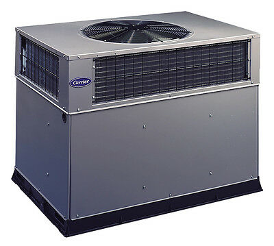 Carrier 4 Ton Packaged Unit 14 Seer 230V 1Ph Gas Heater Ac R410A 48Vl-B480903