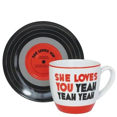 The Beatles She Loves You Cup & Saucer Set