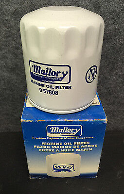 New OEM Mallory Oil Filter Part # 9-57808 Sierra # 18-7906