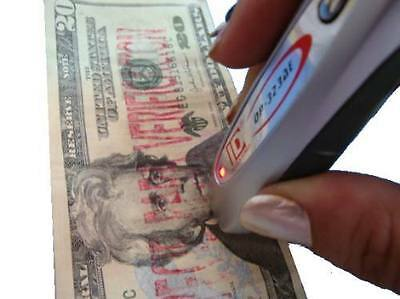 Portable UV LED Mg Counterfeit Fake Dollar Euro Bank Bill Note Money Detector $$