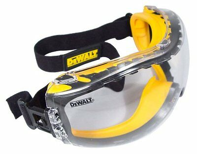 New Dewalt Concealer Clear Anti Fog Safety Goggle Work Glasses Padded Protective
