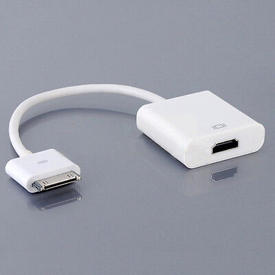 Dock Connector to HDMI Adapter AV Cable HDTV TV For iPhone 4 4s iPad 2 3@#
