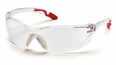 Pyramex Achieva PINK Temple CLEAR Safety Glasses Womens Z87.1