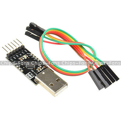 USB 2.0 CP2102 To TTL UART Module 6Pin Serial Converter + Free Cables