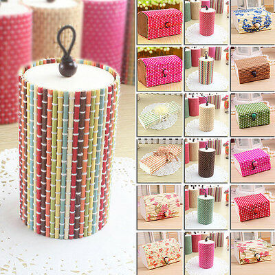 Wholesale Bamboo Wooden Jewelry Organizer Storage Box Strap Craft Case Color Hot