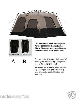 Coleman instant tent 8, 10 person Parts # 501000851 (16-16-125 or 22-16-125)